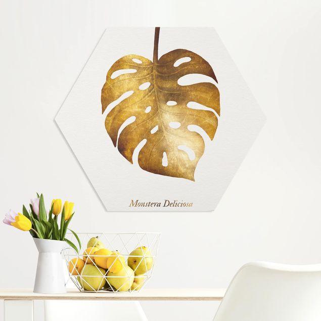 Hexagon Bild Forex - Gold - Monstera
