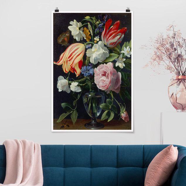 Poster - Daniel Seghers - Vase mit Blumen - Hochformat 3:2
