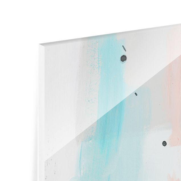 Glas Spritzschutz - Verschwommener Tagesanbruch III - Quadrat - 1:1