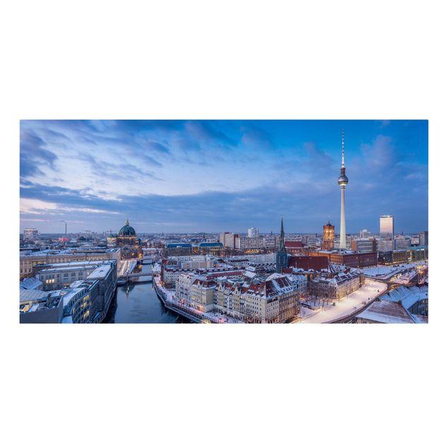 Leinwandbild - Schnee in Berlin - Querformat 2:1
