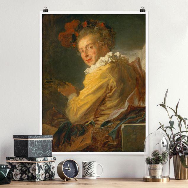 Poster - Jean Honoré Fragonard - Die Musik - Hochformat 3:4