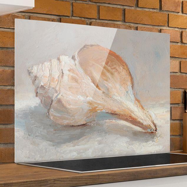 Glas Spritzschutz - Muschel-Studie III - Querformat - 4:3