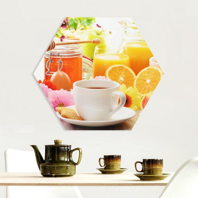 Hexagon Bild Forex - Sommerlicher Frühstückstisch