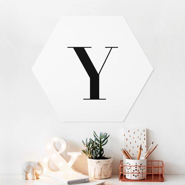 Hexagon Bild Forex - Buchstabe Serif Weiß Y