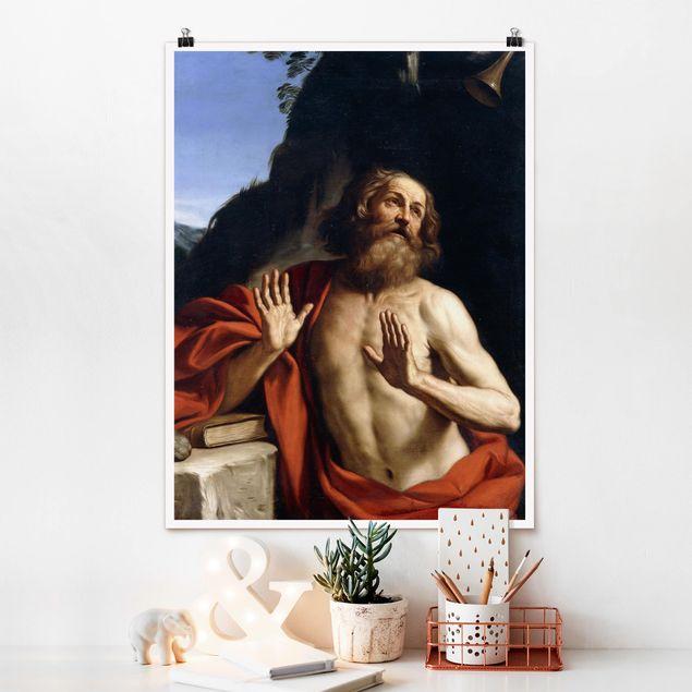Poster - Guercino - Der heilige Hieronymus - Hochformat 3:4