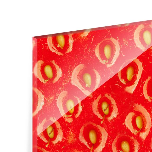Glas Spritzschutz - Erdbeerstruktur - Querformat - 4:3
