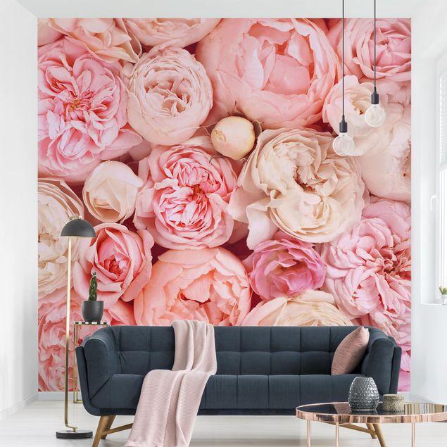Fototapete - Rosen Rosé Koralle Shabby