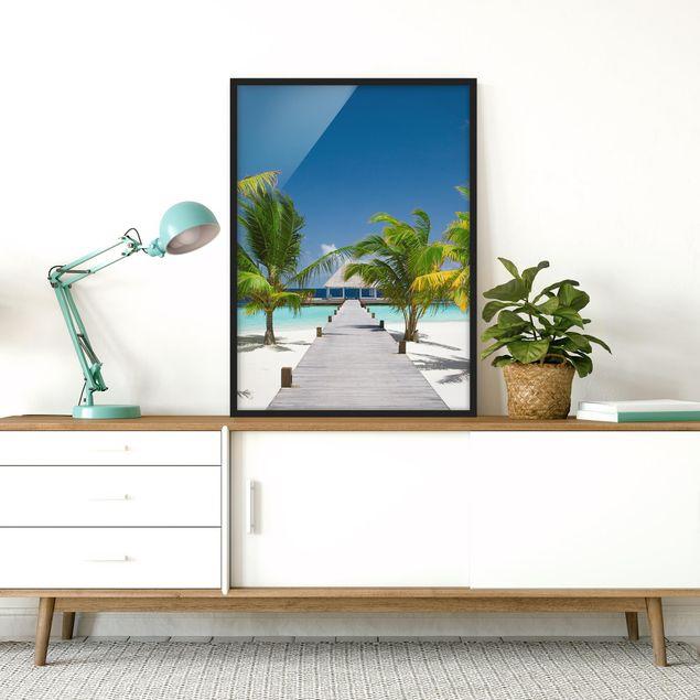 Bild mit Rahmen - Catwalk to Paradise - Hochformat 3:4