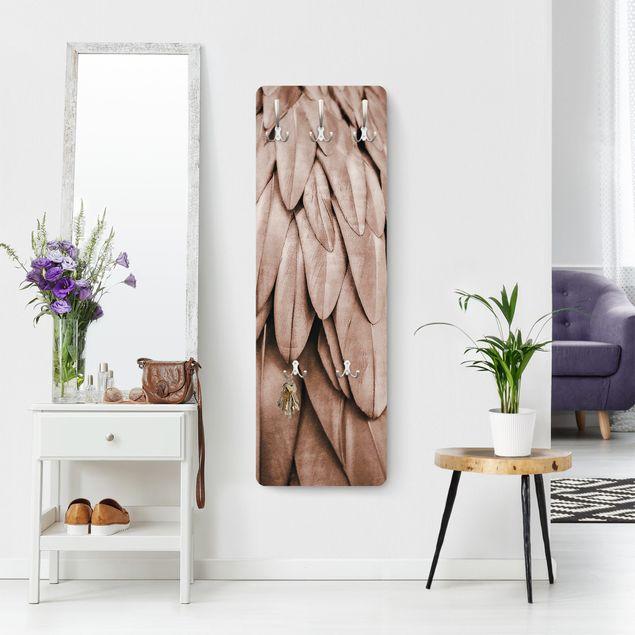 Garderobe - Federn in Rosegold