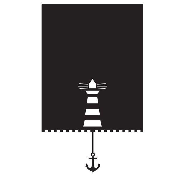 Sichtschutzfolie Rollo Optik Leuchtturm und Anker Maritim - Milchglasfolie
