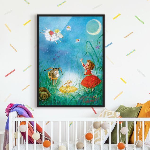 Bild mit Rahmen - Erdbeerinchen Erdbeerfee - Schlaftaxi - Hochformat 3:4
