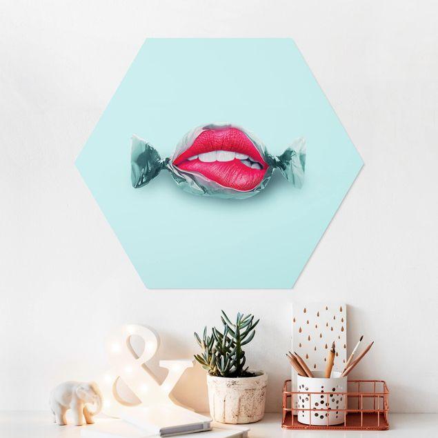 Hexagon Bild Forex - Jonas Loose - Bonbon mit Lippen
