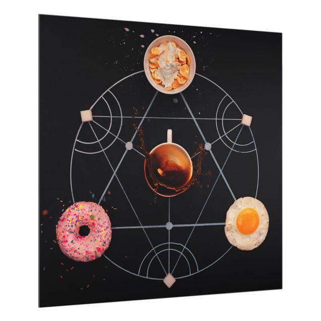 Glas Spritzschutz - Alchemie des Frühstücks - Quadrat - 1:1