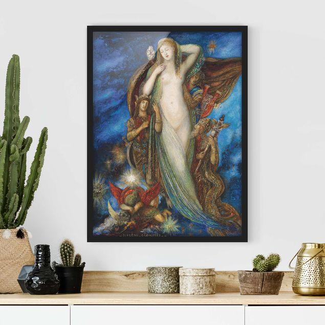 Bild mit Rahmen - Gustave Moreau - Verherrlichung Helenas - Hochformat 3:4