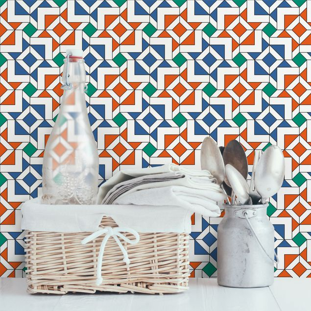 Fototapete Alhambra Mosaik mit Fliesenoptik