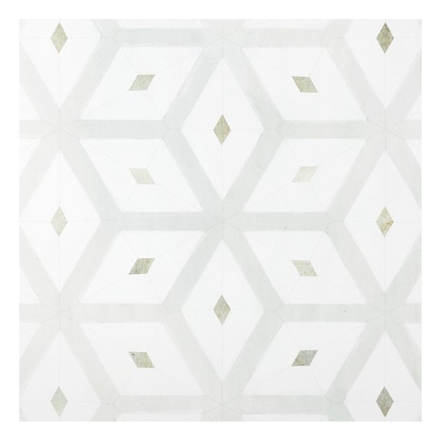 Spritzschutz Glas - Fliesen aus Meeresglas - Quadrat 1:1