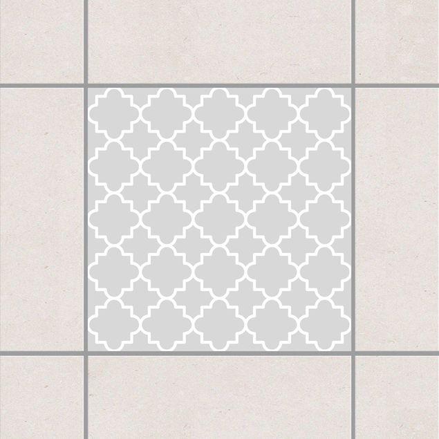 Fliesenaufkleber - Traditional Quatrefoil Light Grey