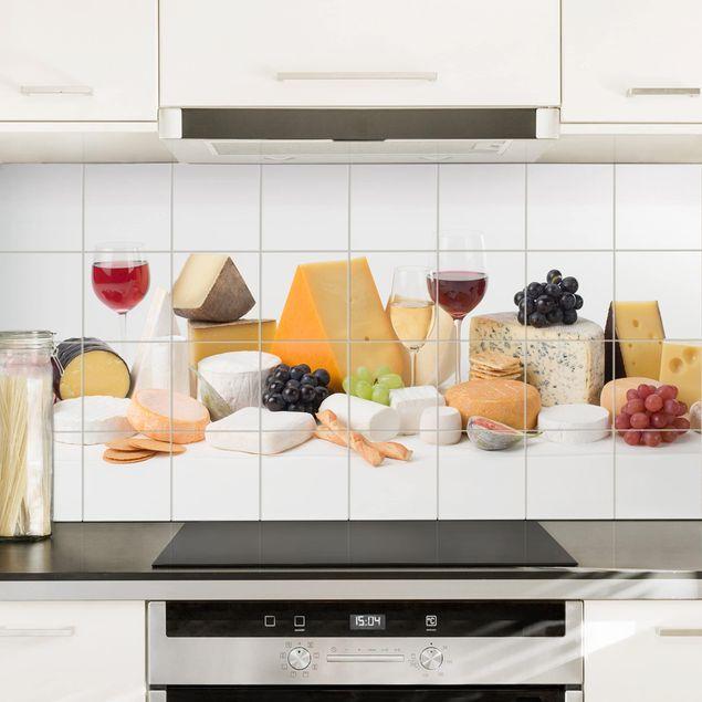 Fliesenbild - Käse-Variationen