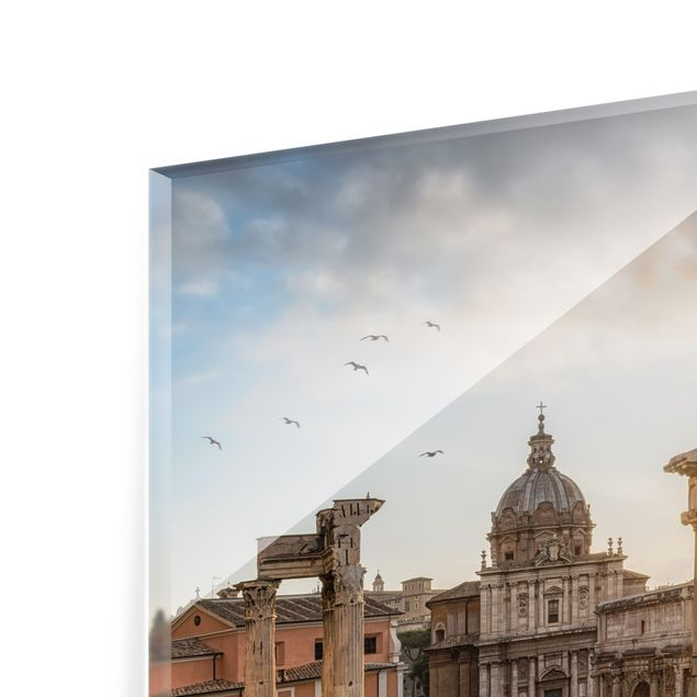 Spritzschutz Glas - Forum Romanum bei Sonnenaufgang - Quadrat 1:1