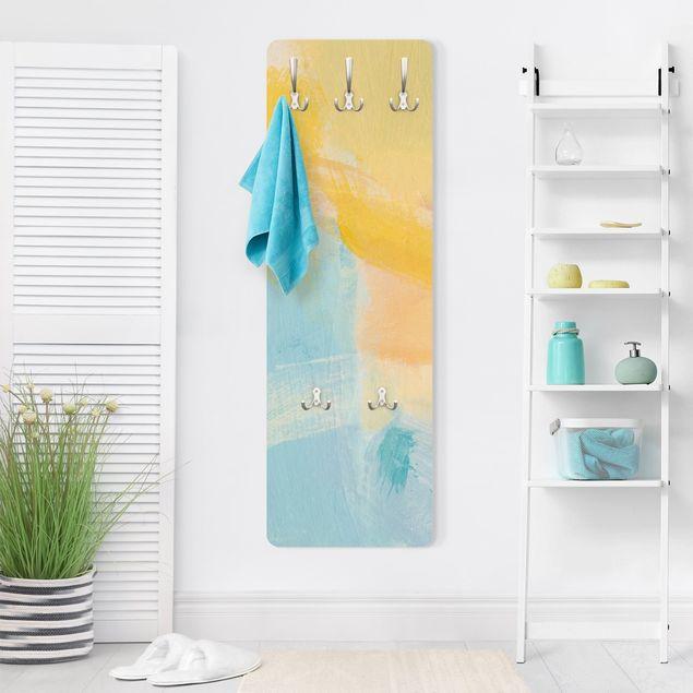Garderobe - Frühlingskomposition in Gelb und Blau
