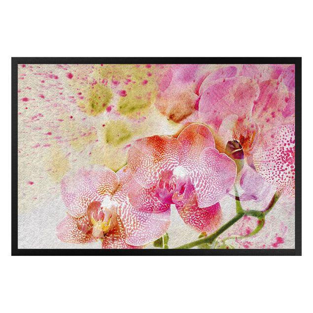Fußmatte - Watercolor Orchids