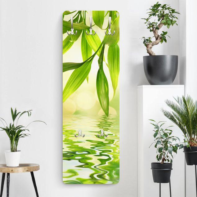 Garderobe Blumen - Green Ambiance I - Grün