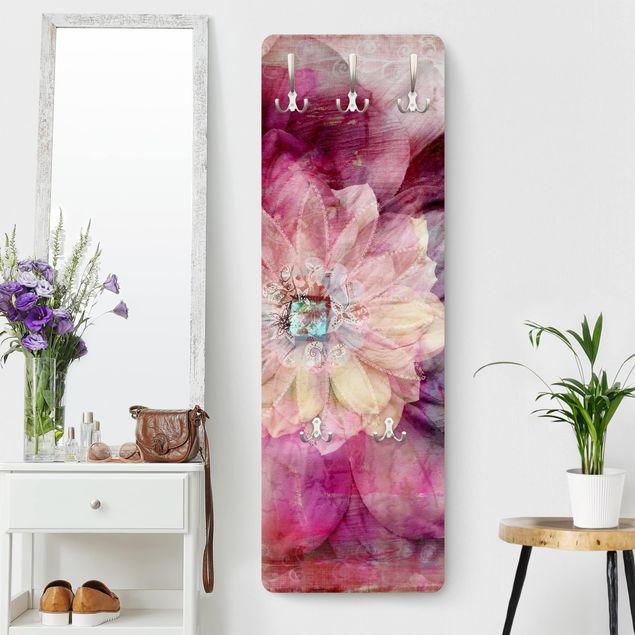 Garderobe Blumen - Grunge Flower - Rosa Pink