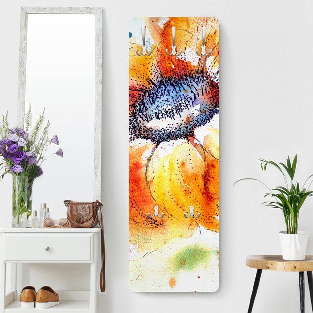 Garderobe Blumen - Painted Sunflower - Orange Gelb