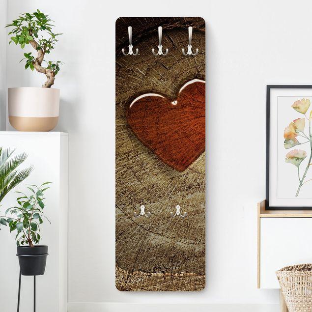 Garderobe Braun - Holzoptik Natural Love - Landhaus