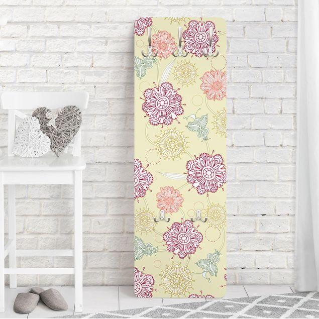Garderobe - Ornamentblüten - Beige