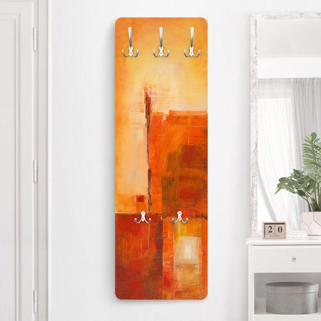 Garderobe - Abstrakt Orange Braun