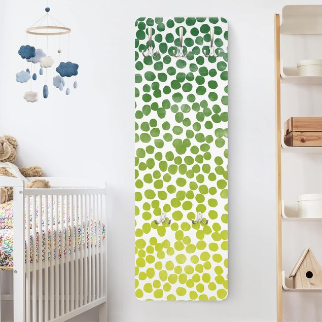 Garderobe Punktemuster - Punktemuster Grün Gelb - Verlauf