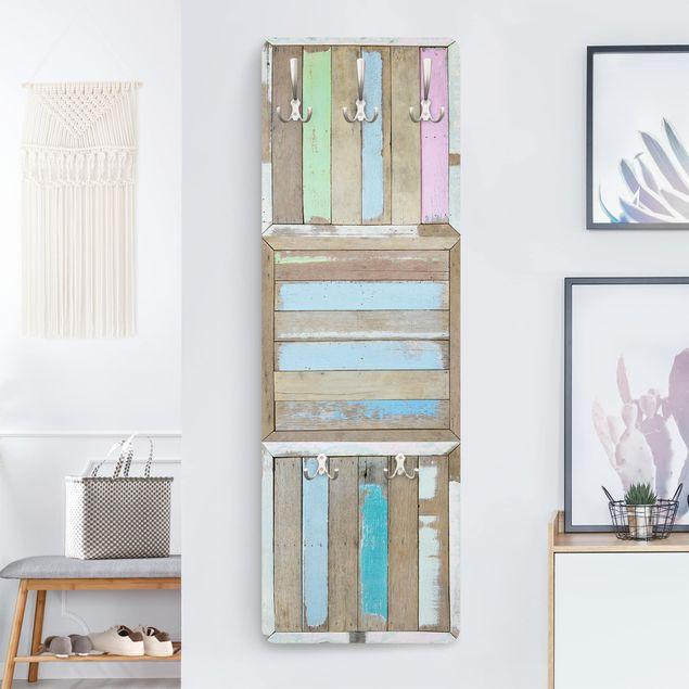 Garderobe Vintage - Rustic Timber - Blau
