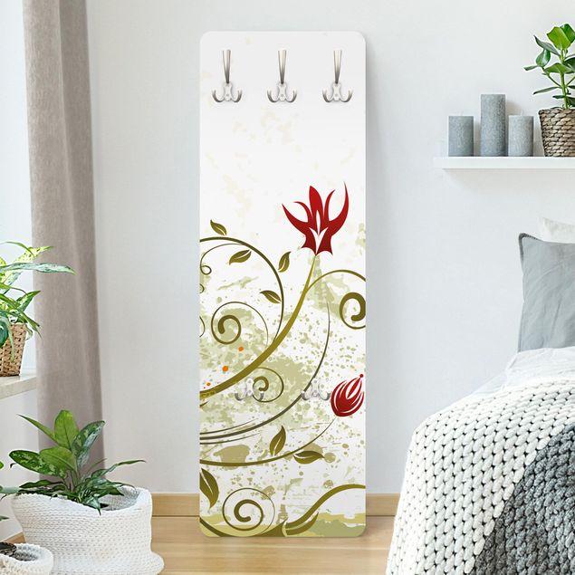 Garderobe Weiß - Fire Flower - Landhaus