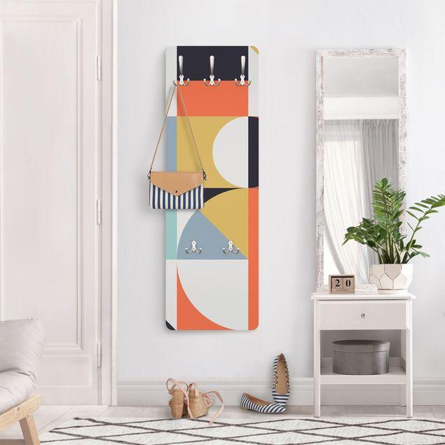 Garderobe - Geometrische Formen in Bunt II