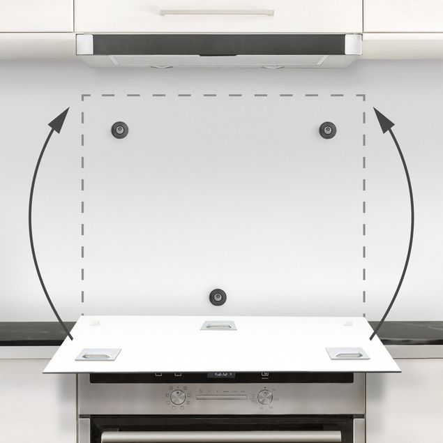 Spritzschutz Glas - Geometrischer Fliesenmix Art Deco Gold Marmor - Quadrat 1:1