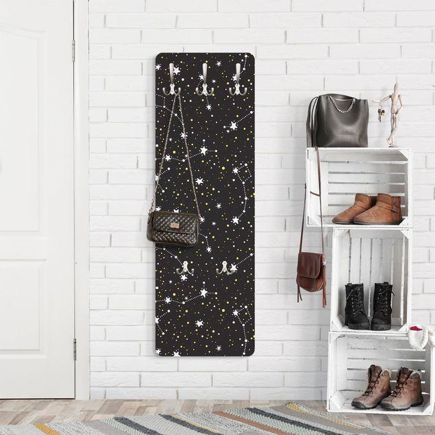Garderobe - Gezeichneter Sternenhimmel mit Großem Wagen