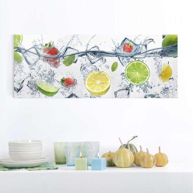 Glasbild - Frucht Cocktail - Panorama Quer