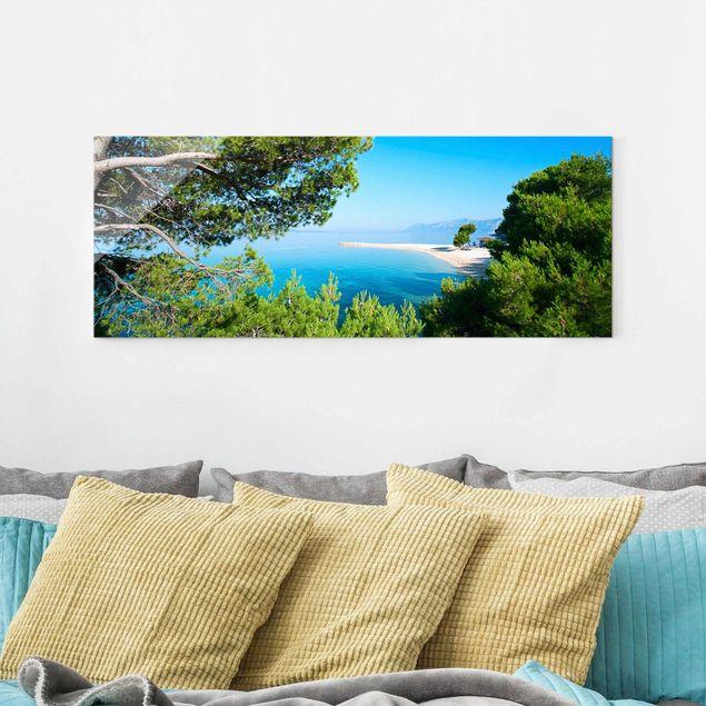 Glasbild - Hidden Paradise - Panorama Quer