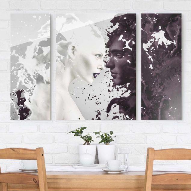 glasbild mehrteilig milk coffee 3 teilig. Black Bedroom Furniture Sets. Home Design Ideas