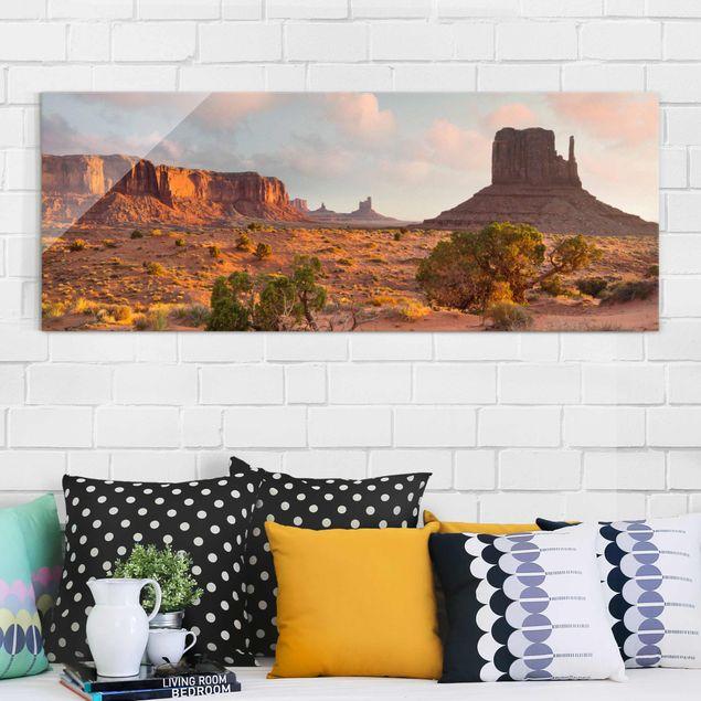 Glasbild - Monument Valley Navajo Tribal Park Arizona - Panorama