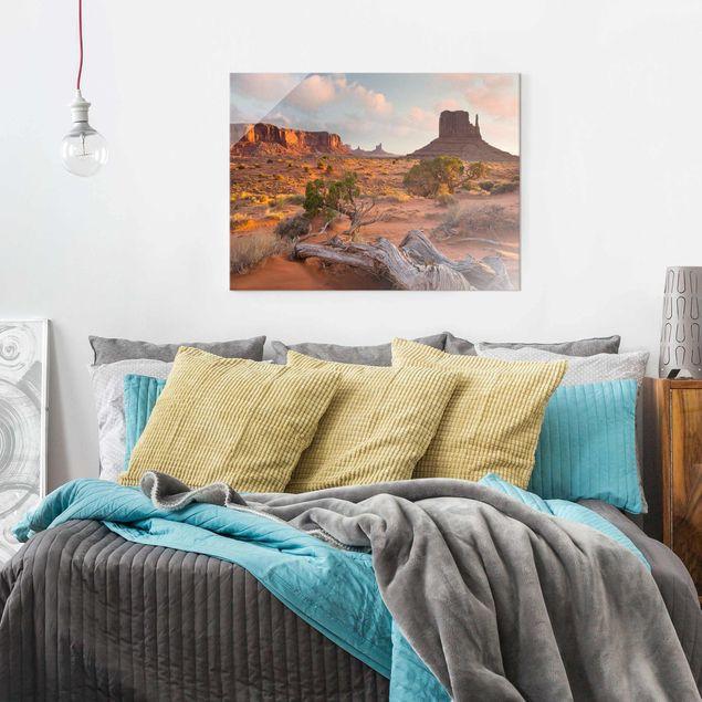 Glasbild - Monument Valley Navajo Tribal Park Arizona - Querformat 3:4