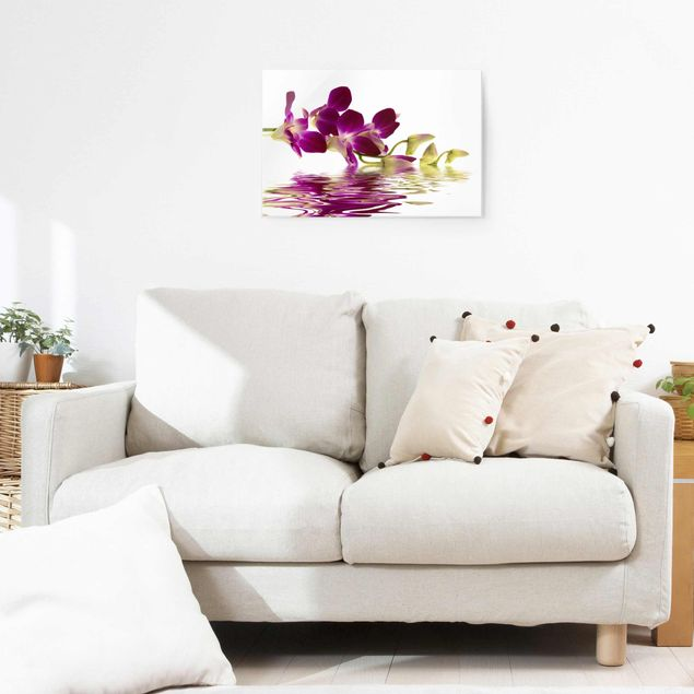 Glasbild - Pink Orchid Waters - Quer 3:2