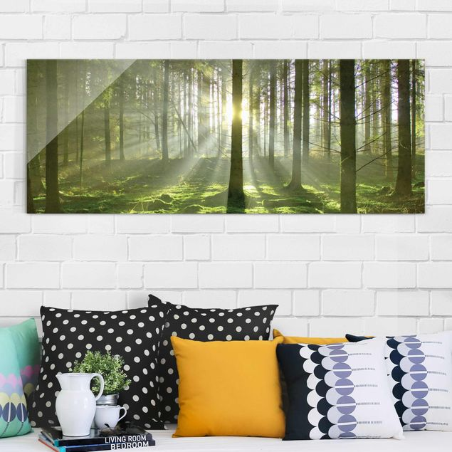 Glasbild - Spring Fairytale - Panorama Quer
