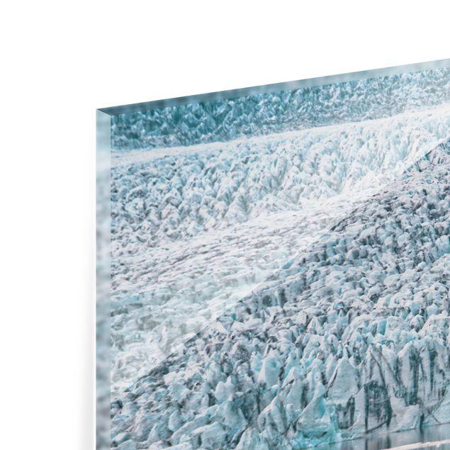 Spritzschutz Glas - Gletscher auf Island - Querformat 2:1