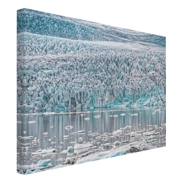 Leinwandbild - Gletscher auf Island - Querformat 4:3