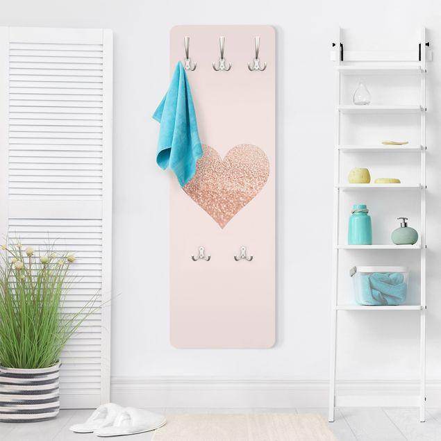 Garderobe - Glitzerndes Herz