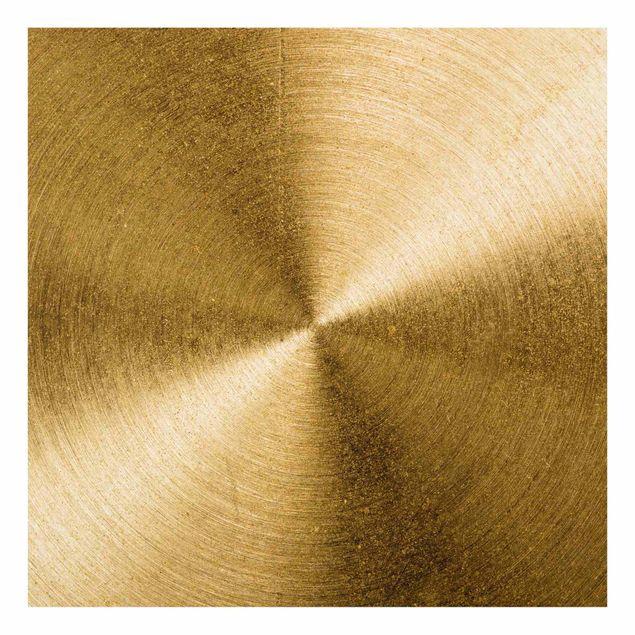 Spritzschutz Glas - Goldener Kreis gebürstet - Quadrat 1:1