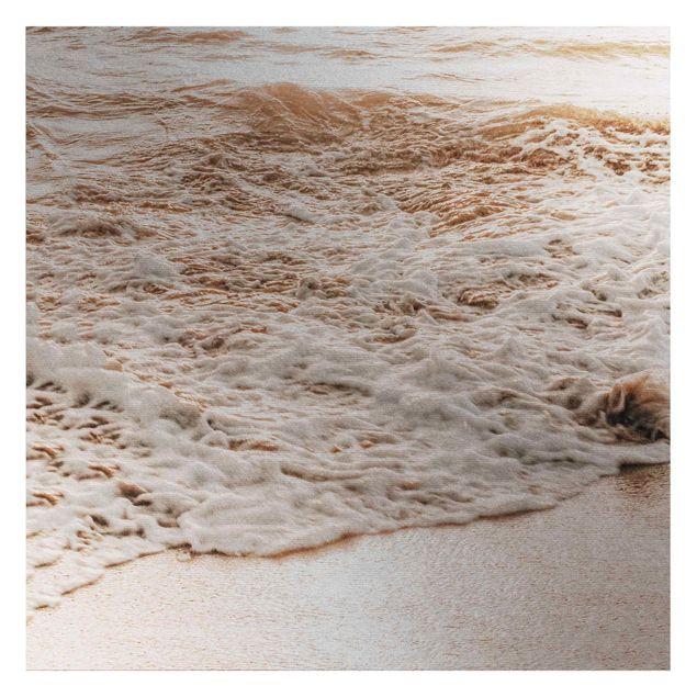 Metallic Tapete - Goldener Strand