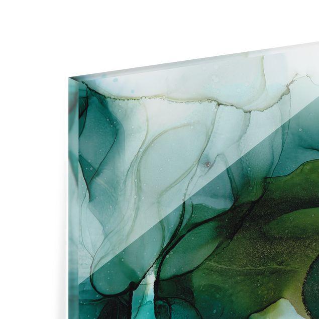 Spritzschutz Glas - Goldener Waldspaziergang - Panorama 5:2